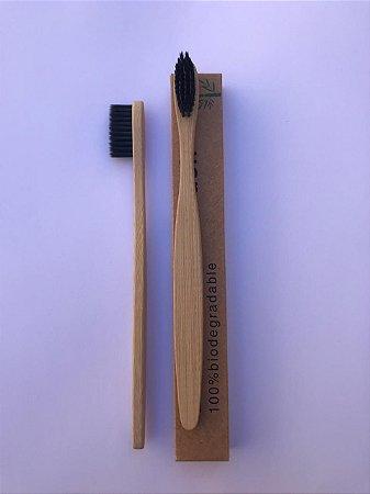 kit Escova Dente Ecológica de Bambu
