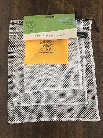Sobags zero waste - kit Hortifruti com 3 unidades