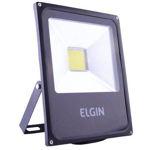 Refletor power led 30w  bivolt preto sem sensor - Elgin