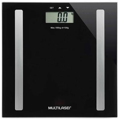 Balança Digital Multilaser Digi-Health Pro Preta - HC030