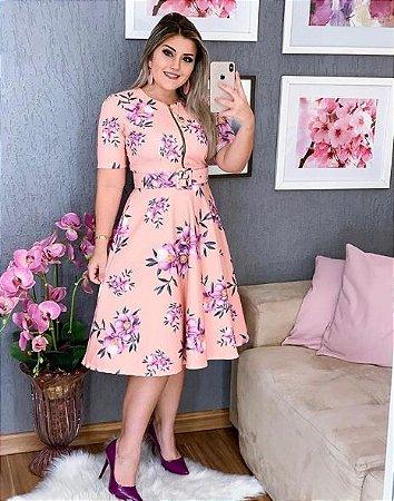 af362678b Vestido Midi Ziper 3/4 - Nova Coleção 2019 - Girliee.Store | Moda ...