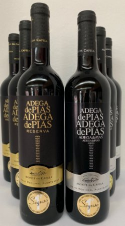 KIT COM 03 Adega de Pias Reserva 750 ml + 03 Adegas de Pias Regional 750 ml