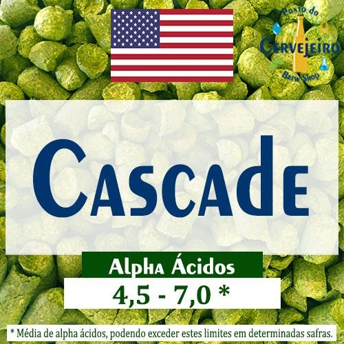 Lúpulo Cascade Americano - 50g