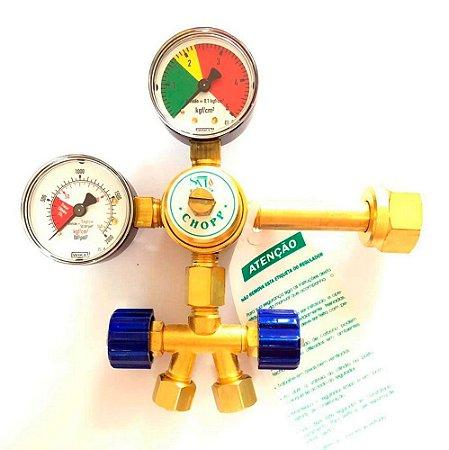 Regulador de Pressão SM CO2 com 2 Saídas