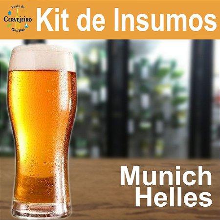 Kit Insumos Munich Helles Ponto para Beermax 25L