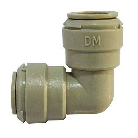DMFIT - Conexao engate rapido cotovelo uniao tubo 3/8 x tubo 3/8