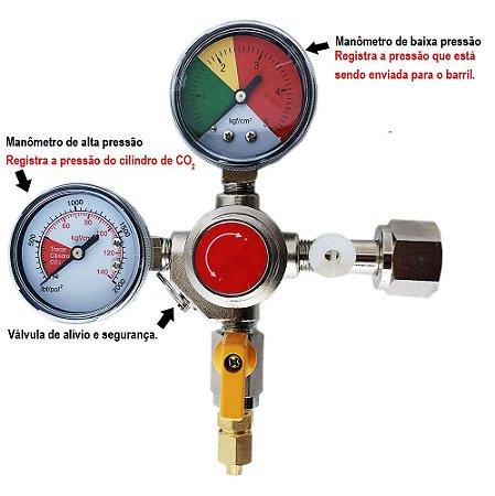 Regulador de Pressao para CO2 - 1 via