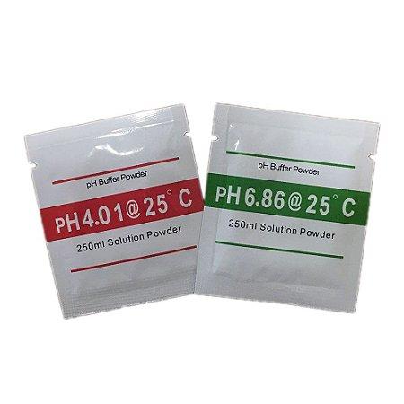 Kit solução para Calibração de Medidor de pH (pHmetro)
