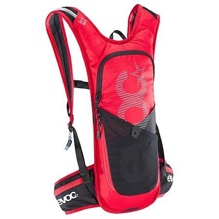 Mochila Cc 3 Litros Race + Bolsa de Hidratação 2 Litros Vermelho com Preto