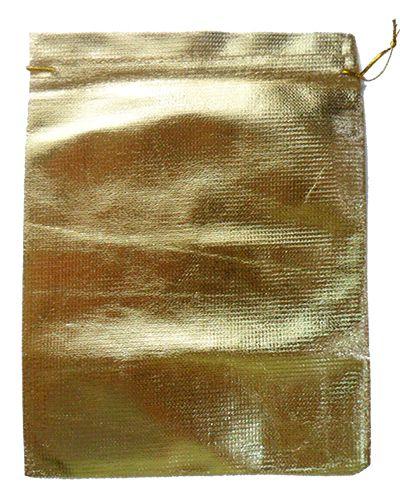 Saquitel Lamê Dourado - 50 unidades