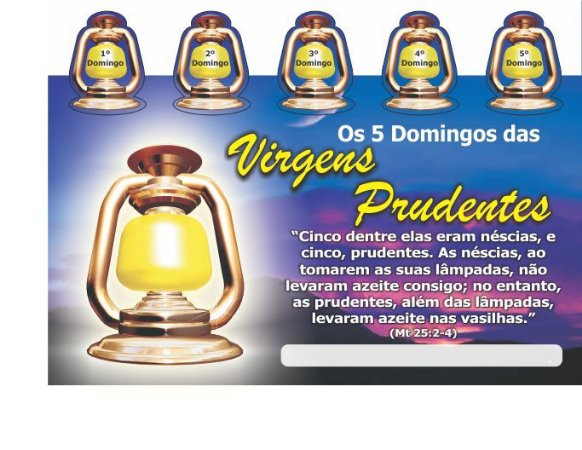 Cartela 5 Domingos das Virgens Prudentes - 50 unidades
