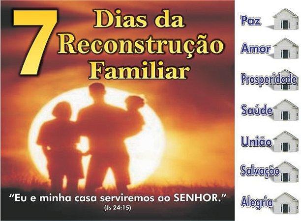 Cartela 7 Dias da Reconstrução Familiar - 50 un