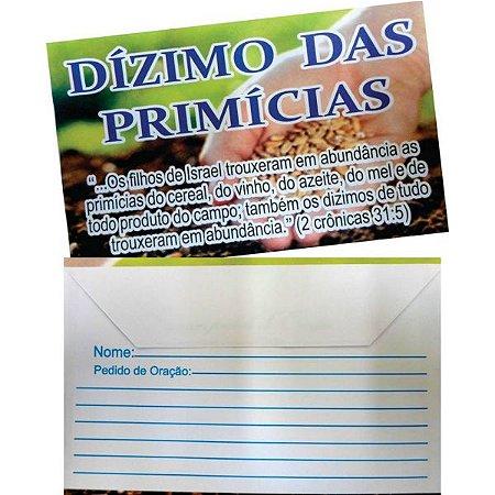 Envelope Dízimo das Primícias - 100 un