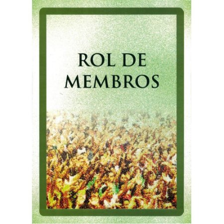Livro Rol de Membros - un