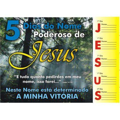 Cartela 5 Dias do Nome Poderoso de Jesus - 50 un
