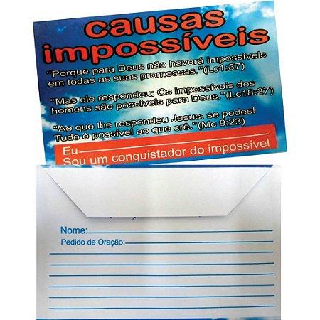 Envelope Causas Impossíveis - 100 un