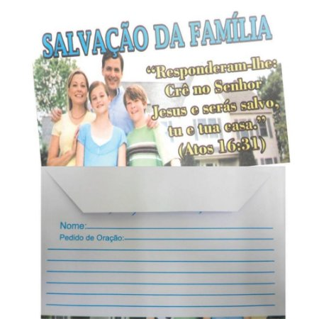 Envelope Salvação da Família - 100 un