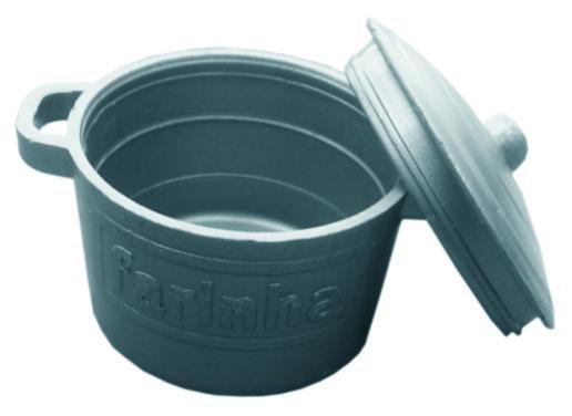 Panelinha de acrílico cinza - 50 un