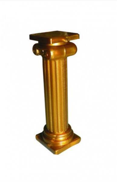 Coluna de Plastico Dourada - 50 un