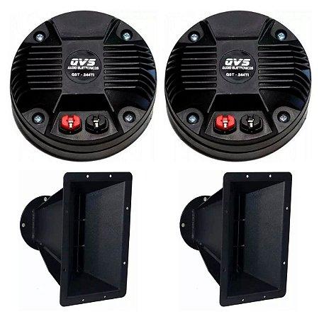 Kit 2 Drivers 244TI  QVS + 2 Guias de Ondas 8 Polegadas QVS