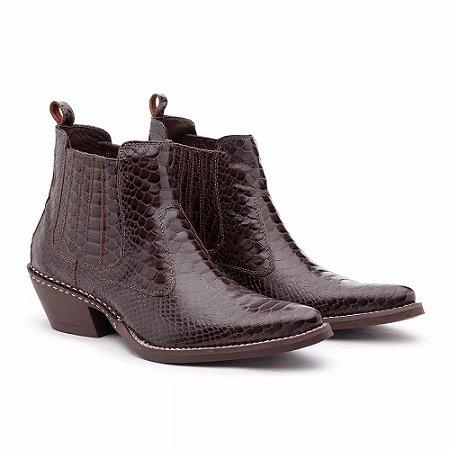 54bae0bee3 Bota Country Couro Verniz - Lider Calçados I Qualidade aos seus pés