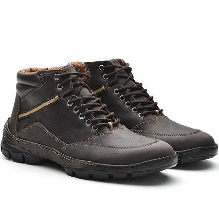 fe556e7670 Coturno Adventure Couro - Lider Calçados I Qualidade aos seus pés