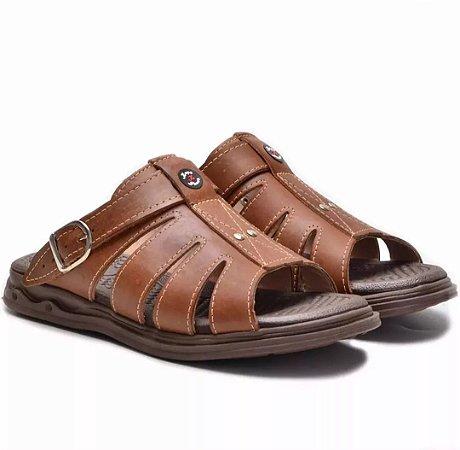 6b3b92255c Sandália Ortopedica Couro - Lider Calçados I Qualidade aos seus pés