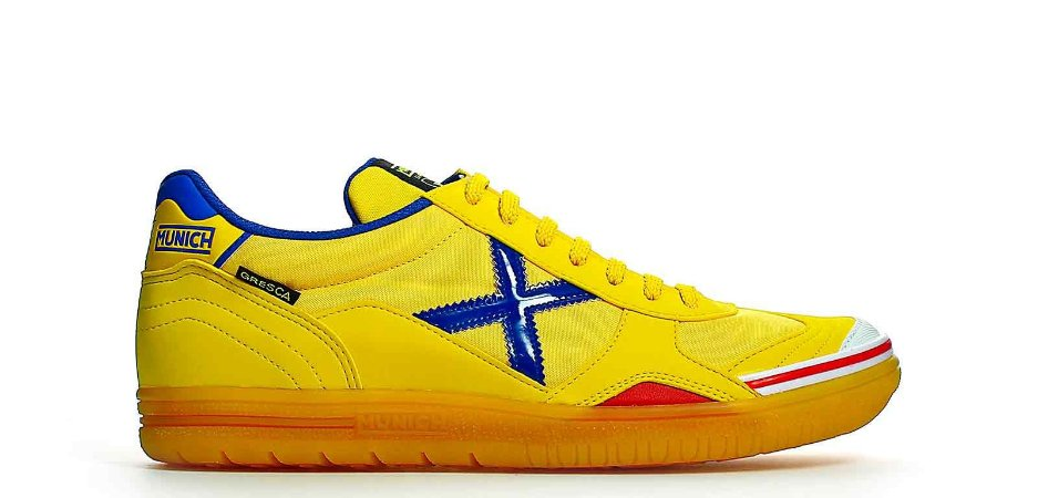 Tênis de Futsal Munich Gresca - Amarelo