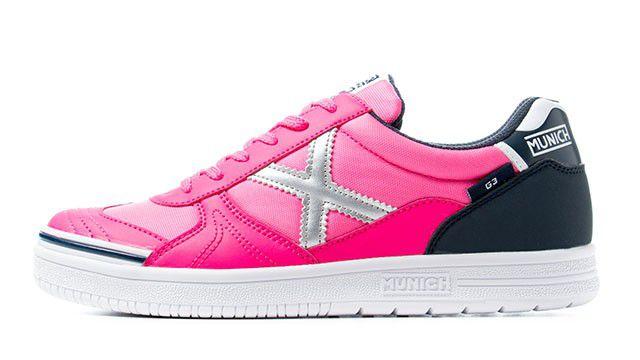 Tênis de Futsal Munich G3 KIDS - Pink