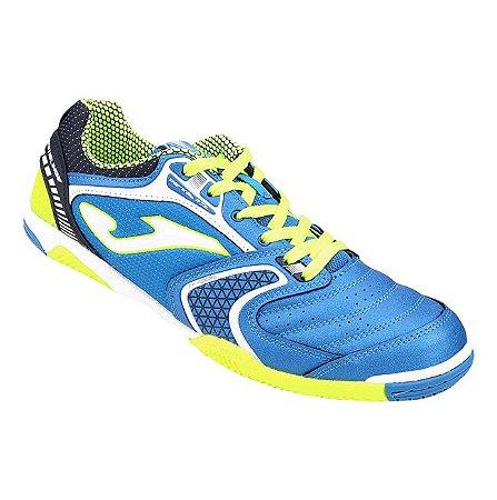 Tênis de Futsal Joma Dribling 704 - Azul|Verde Neon