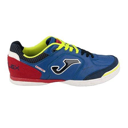 Tênis de Futsal Joma Top Flex 704 Indoor - Azul e Vermelho
