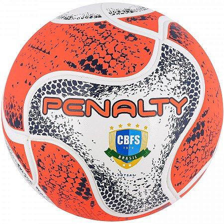 Bola Penalty Max 500 Term Futsal - Branco e Laranja