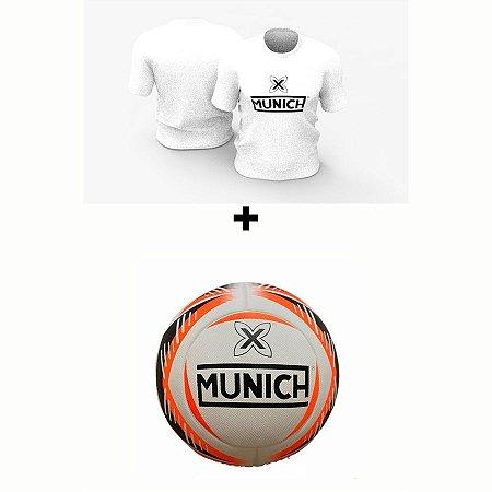 Kit Camiseta Munich  + Bola Munich - Branco