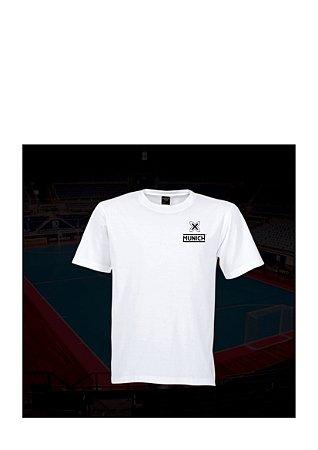 Camiseta Tradicional Munich - Branco / Marinho / Cinza
