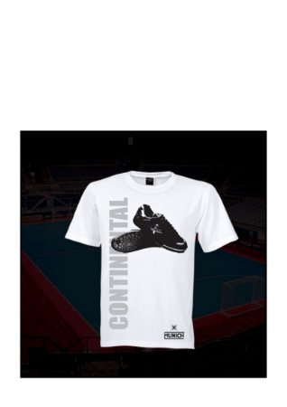 Camiseta Tradicional Munich Continental - Branco / Marinho / Cinza