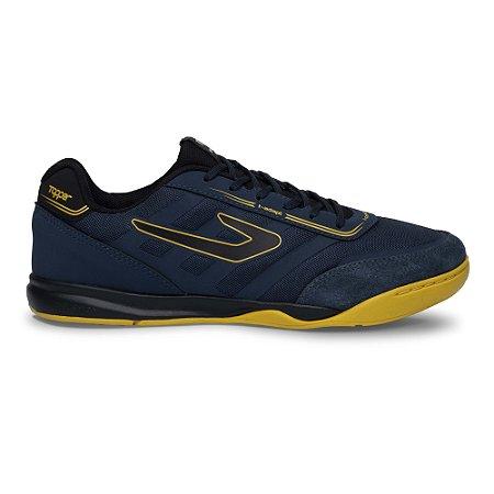 Tenis de Futsal Topper Letra II - Petroleo / Amarelo