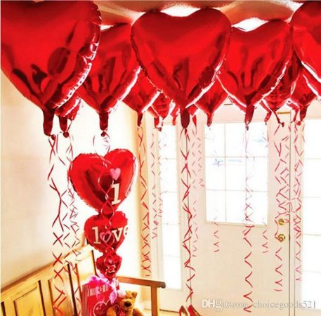 Kit Decoração Romântica Namorados + 10 Balões Metálicos