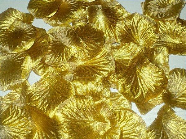 Pétalas artificiais douradas 100 unidades
