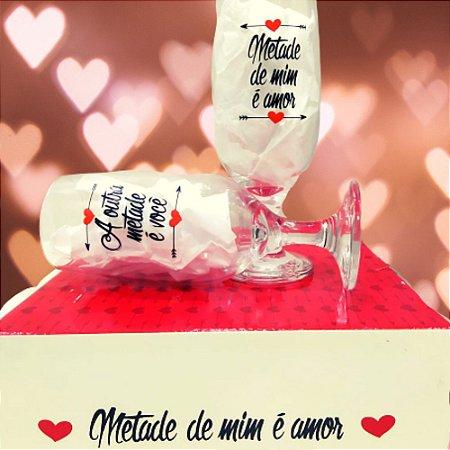 Conjunto 2 Taças Metade de Mim é Amor