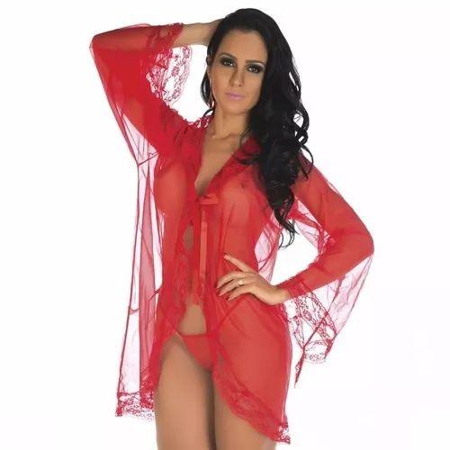 Robe Sensual Tentação Vermelho