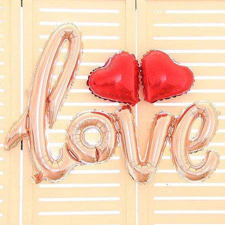 Kit Criativo Surpresa Para Namorados Balão Love + Pétalas