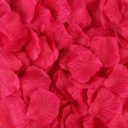 Pétalas artificiais vermelhas 1000 unidades