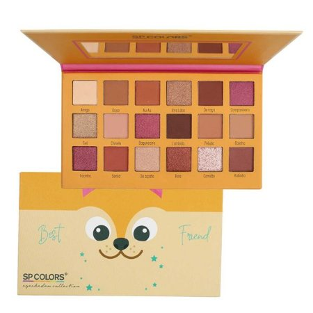 PALETA DE SOMBRAS BEST FRIEND DE 18 CORES SP COLORS