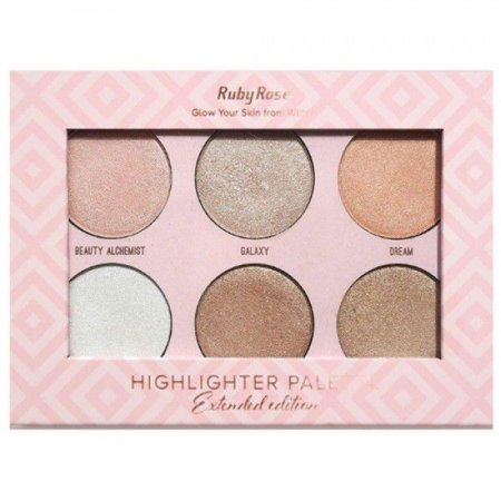 PALETA DE ILUMINADORES GLOW YOUR SKIN FROM WITHIN (EXTENDED EDITION) RUBY ROSE