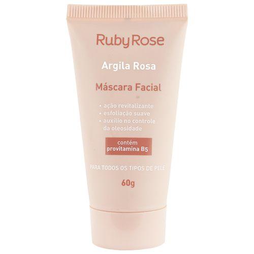 MÁSCARA FACIAL ARGILA ROSA RUBY ROSE
