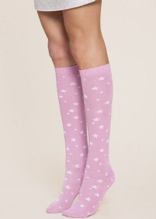 Meia 3/4 INVERNO PINK STAR