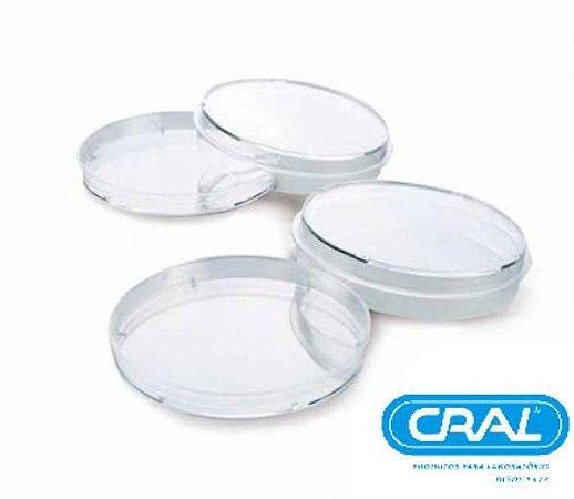 Placa de Petri para microbiologia 90x15mm, estéril, pacote com 10 unidades, mod.: 18248E (Cralplast)