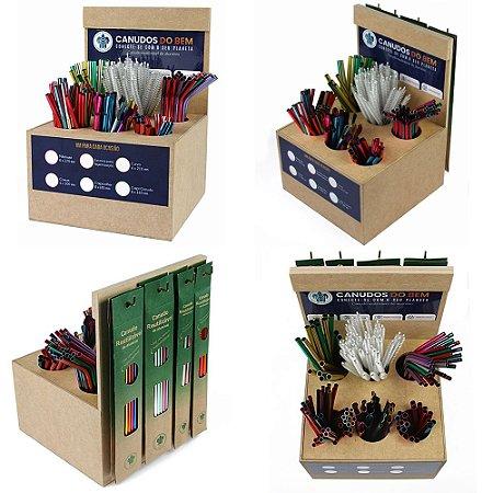 Display ecológico exclusivo para canudos e kits