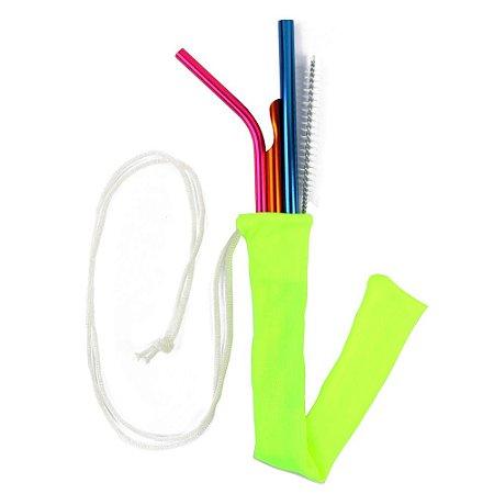 Kit Especial 3 canudos + Case + Escova Higienizadora