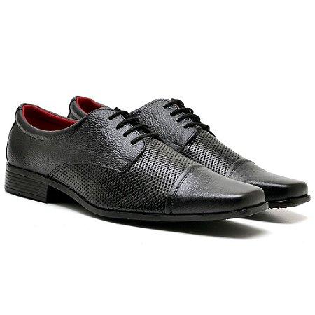 Sapato social couro legitimo cadarço